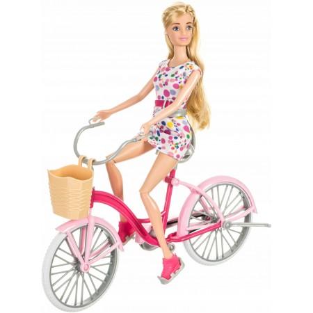 Lalka Anlily na rowerze