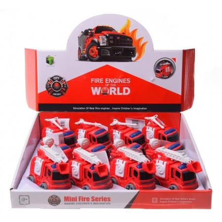 Plastikowe auta strażackie