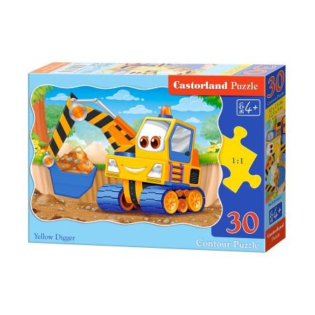 Puzzle 30 el. Yellow Digger - Żółta koparka