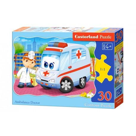 Puzzle 30 el. Ambulance Doctor - Karetka i lekarz