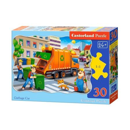 Puzzle 30 el. Garbage Car - Śmieciarka