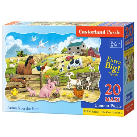 Puzzle 20 el. MAXI Animals on the Farm - Zwierzęta na farmie