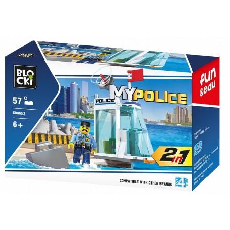 Klocki blocki MyPolice stacja policji 57el. KB0652