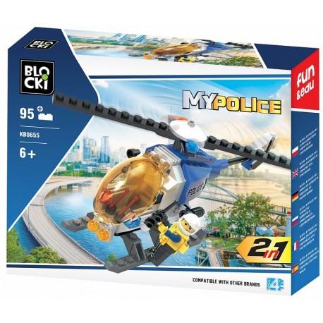 Klocki blocki MyPolice helikopter 95el. KB0655