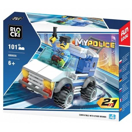 Klocki blocki MyPolice jeep policyjny 101el. KB0656