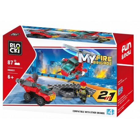 Klocki blocki MyFireBrigade Helikopter 87el. KB0851
