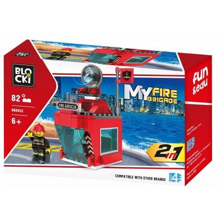 Klocki blocki MyFireBrigade Stacja 82el. KB0852