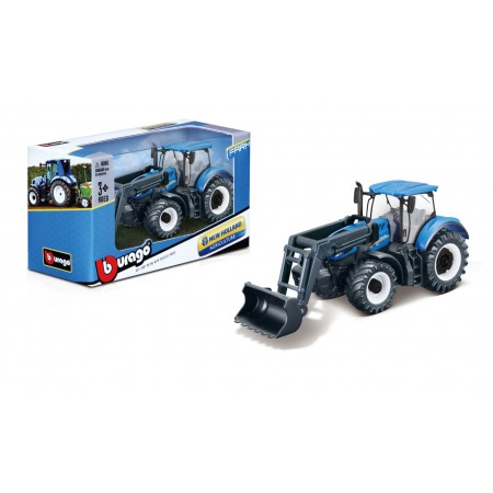 Bburago Traktor z ładowarką