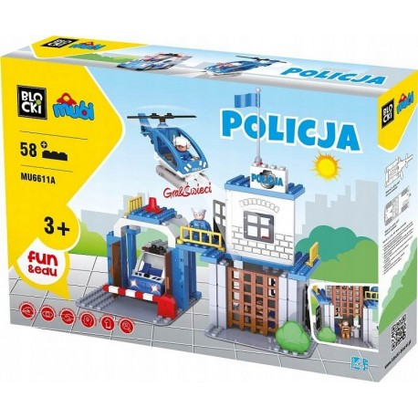 Klocki Mubi policja 58el.