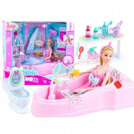 Lalka Anlily w kąpieli
