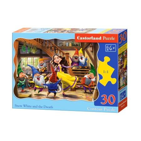 Puzzle 30 el. Snow White and the Seven Dwarfs - Królewna śnieżka i siedmiu krasnoludków