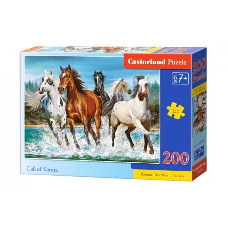 Puzzle 200 el. Call of nature - Konie