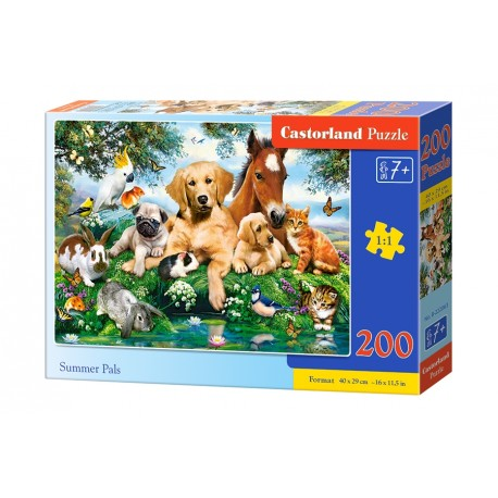 Puzzle 200 el. Summer Pals - Wakacyjni kumple