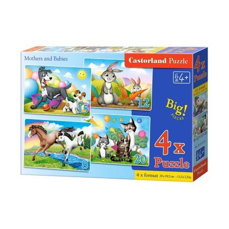 Puzzle dla malucha 4w1 - mama i dziecko