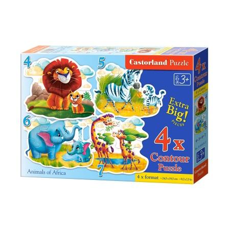 Puzzle konturowe dla malucha 4w1 - mama i dziecko