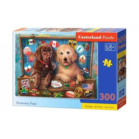 Puzzle 300 el. Stowaway Pups - Podróżujące szczeniaki