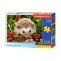 Puzzle 100 el. Hedgehog with berries