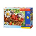 Puzzle 200 el. Strawberry Dessert - Deser truskawkowy