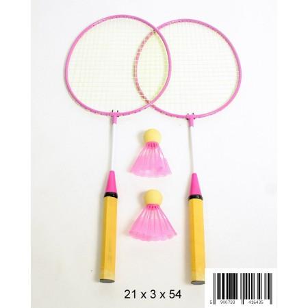 Badminton metal różowy