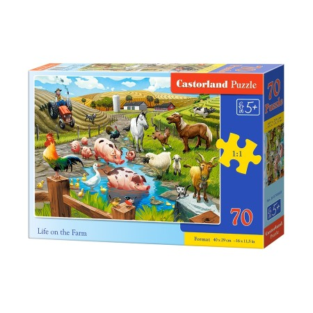 Puzzle 70 el. Life on the farm - Życie na farmie