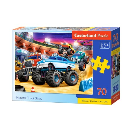 Puzzle 70 el. Monster Truck Show - Pokaz Monster Trucków