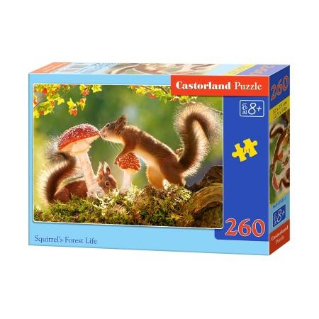 Puzzle 260 el. Squirrels Forest Life - Leśne życie wiewiórek
