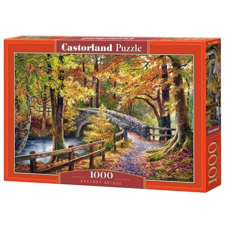 Puzzle 1000 el. Brathay Bridge - Obraz kamiennego mostu jesienią