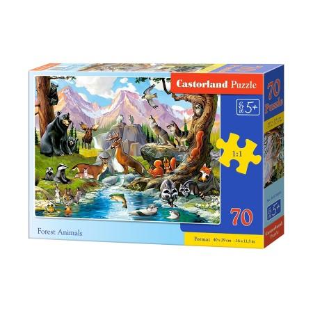Puzzle 70 el. Forest Animals - Zwierzęta leśne