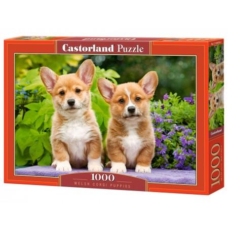 Puzzle 1000 el. Welsh Corgi Puppies - Szczeniaki Welsh Corgi