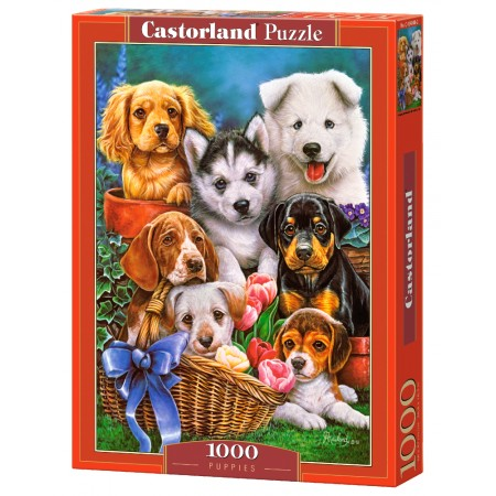 Puzzle 1000 el. Puppies - Szczeniaki
