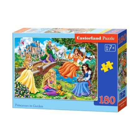 Puzzle 180 el. Princesses in Garden - Bajkowe księżniczki w ogrodzie