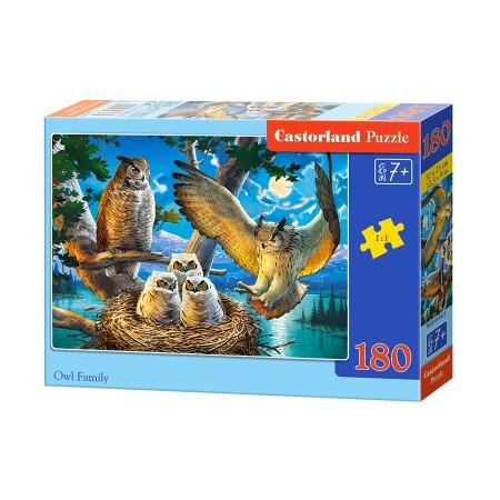 Puzzle 180 el. Owl Family - Rodzina sów