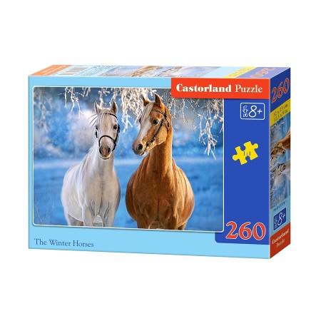 Puzzle 260 el. The Winter Horses - Zimowe konie