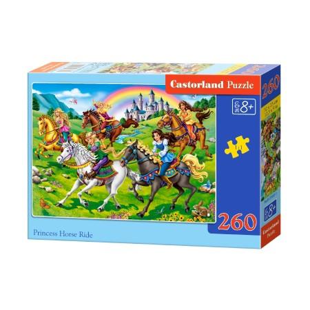 Puzzle 260 el. Princess Horse Ride - Konne wyścigi księżniczek