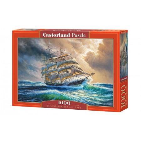 Puzzle 1000 el. Sailing Against All Odds - Płynąć pod prąd