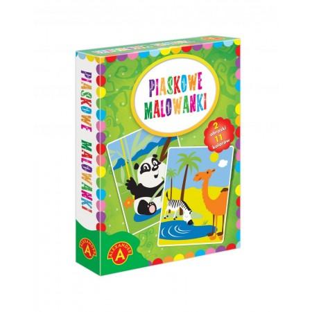 Piaskowe malowanki panda i wielbłąd