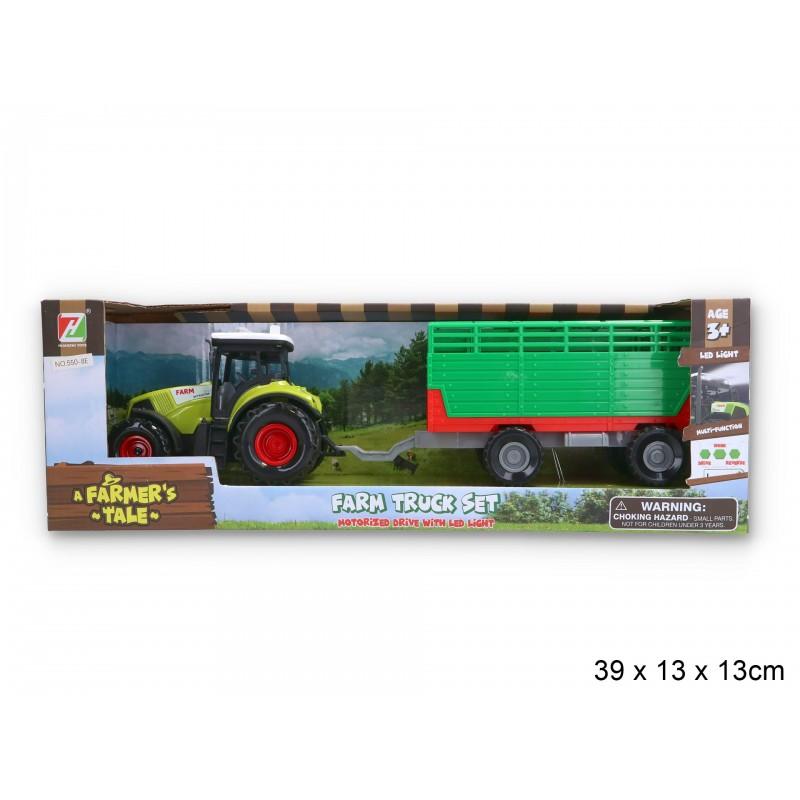 Traktor z przyczepą światło dźwięk