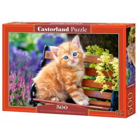Puzzle 500 el. Ginger Kitten - Rudy kotek
