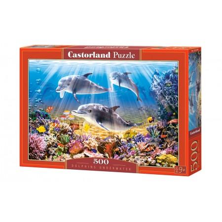Puzzle 500 el. Dolphins Underwater - Delfiny pod wodą