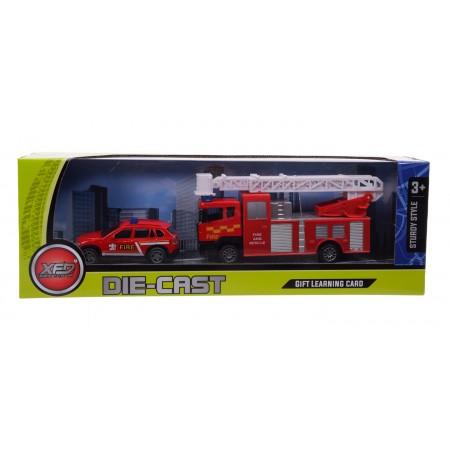 Auto straży pożarnej + wóz strażacki