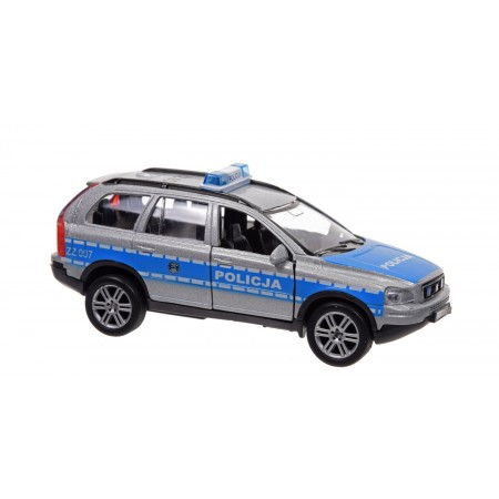 Policja volvo św. dźw. metal