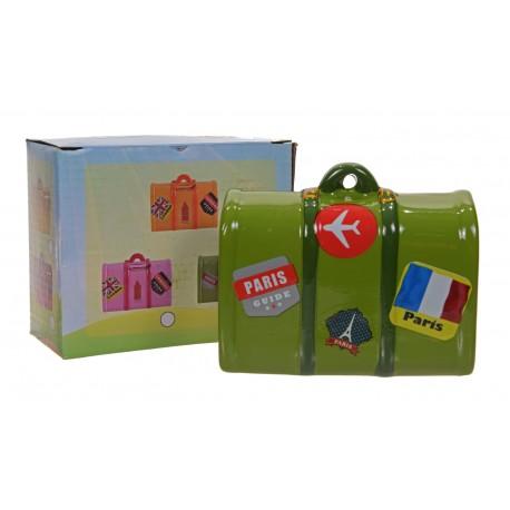 Skarbonka ceramiczna walizka